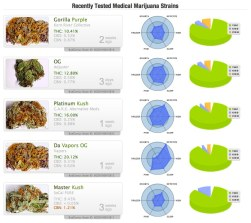 recently tested strains - budgenius